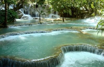 Kuang Sii Fall in Laos